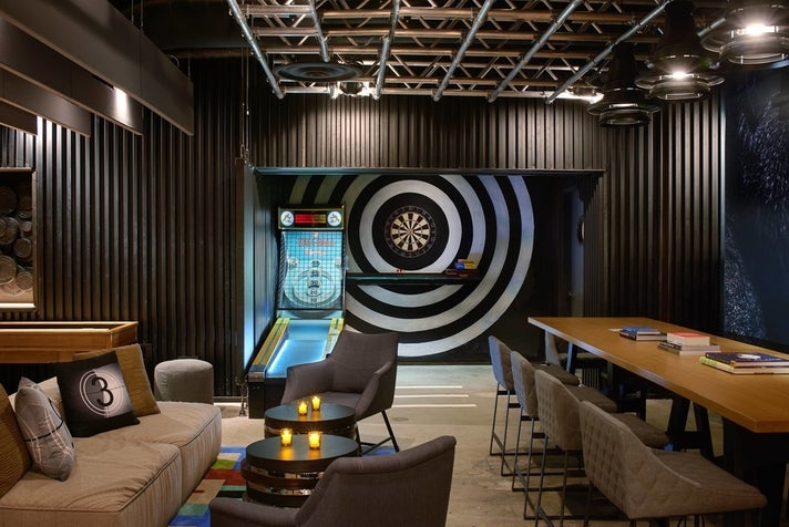Game Room at the Kimpton Hotel Palomar Los Angeles Beverly Hills