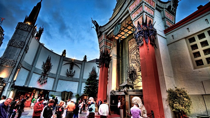 TCL Chinese Theatre at dusk